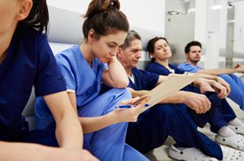 Nurses on break